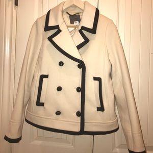 JCrew black and white coat